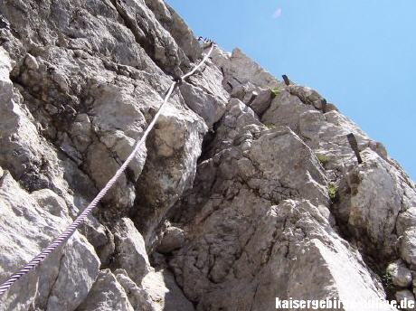 Klettersteig Wilder Kaiser Ellmauer Halt : Gamsängersteig klettersteig zur ellmauer halt